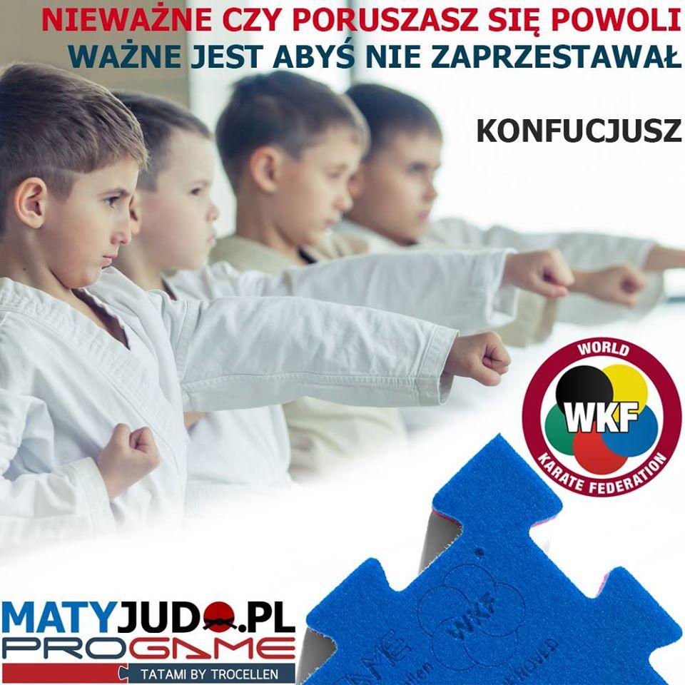 Maty do Karate - Trocellen Progame WKF - Cytat Konfucjusz