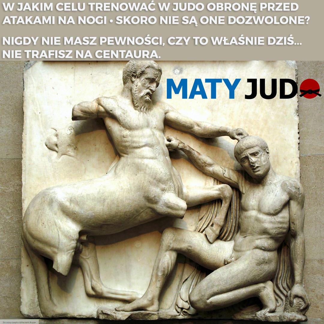 Trenowanie w Judo obrony przed kopnięciami